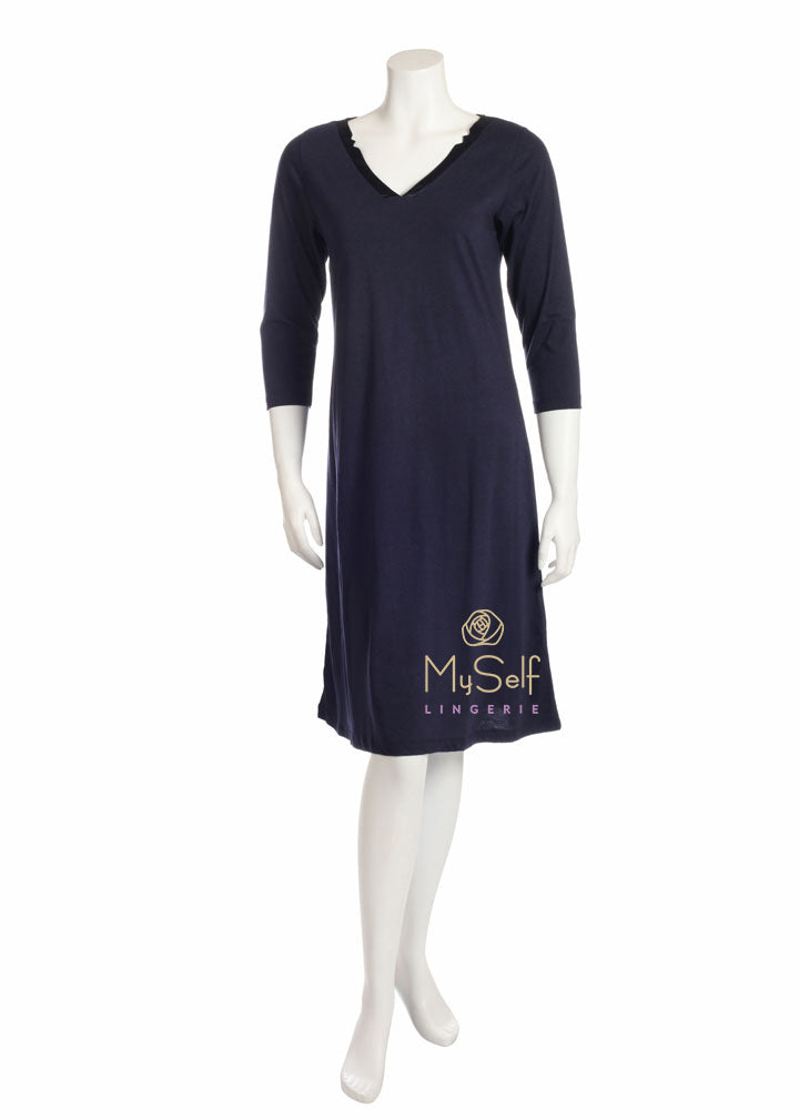 Rojo London Sanbie Knee Length Nightshirt and Hoodie myselflingerie.com