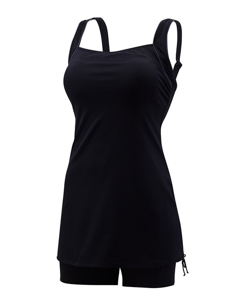 TYR TSSQJ7A Fitness Solids Skirted Swimsuit myselflingerie.com