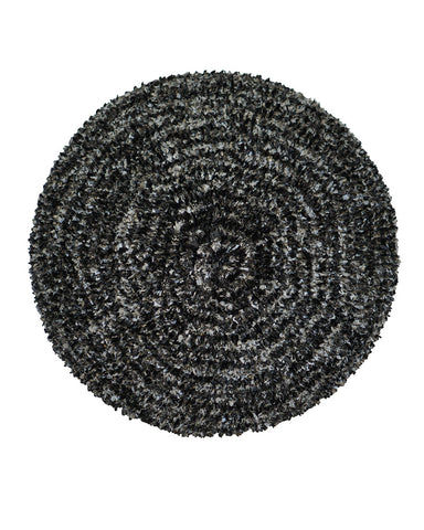 Lizi Headwear Two Tone Lined Black / Grey Chenille myselflingerie.com