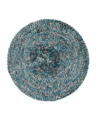 Lizi Headwear Two Tone Lined Teal / Grey Chenille