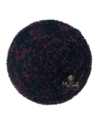 Two Tone Lined Black / Burgundy Grey Chenille