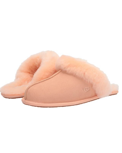UGG Scuffette II Scallop Suede Slipper with Fur Trim