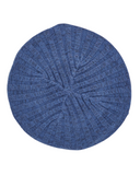AH-H0002 Denim Blue Raised Ribbed Knit Chenille