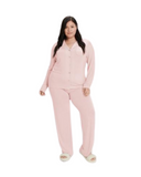 UGG 1105013 Pink Cloud Lenon Button Down PJ's Set myselflingerie.com