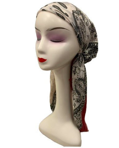 HSB6 Printed Cotton Pre-Tied Headscarf Bandanna