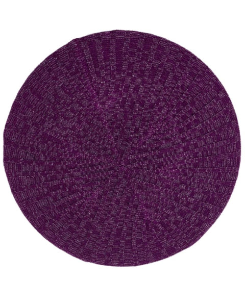 Ribbed Knit Summer Plum / Silver Lined Chenille