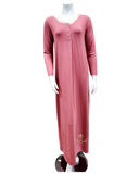 Iora 20413C Rose Lace Scallop Neck Button Down Modal Nightgown MYSELFLINGERIE.COM