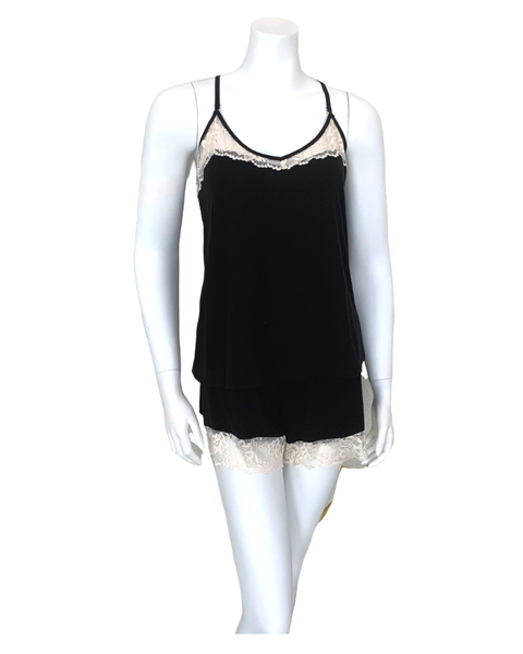 Flora Nikrooz Q80977 Black Frida Cami and Shorts Pajamas Set