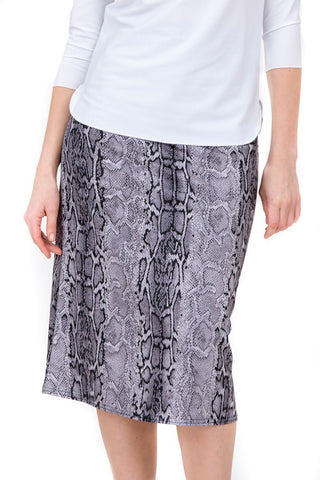 Undercover Waterwear Grey Reptile A-Line Skirt