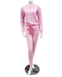 Q81173 Blaire Carnation Fleece Lined Modal Pajamas Set