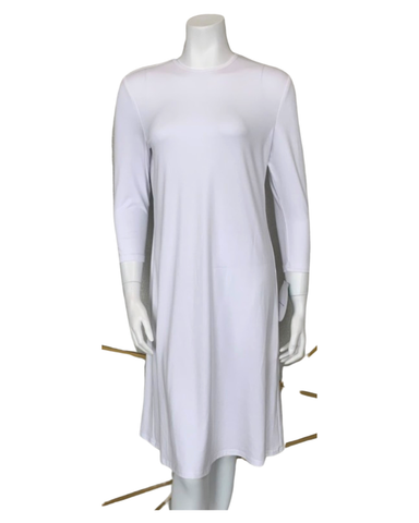 "Sparrow S6029 White 3/4 Sleeve 40"" Shell Dress MYSELFLINGERIE.COM"