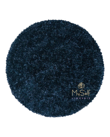 Lurex Lined Navy / Colorful Chenille