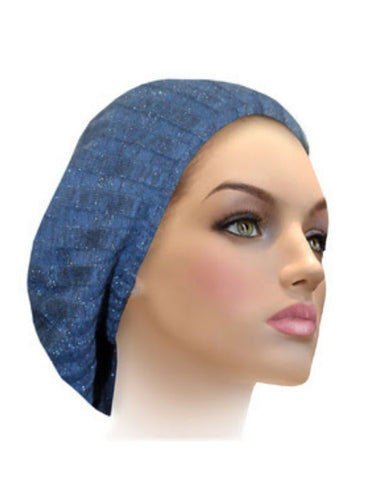 AH-H0002 Dazzling Blue/Black Raised Ribbed Knit Chenille