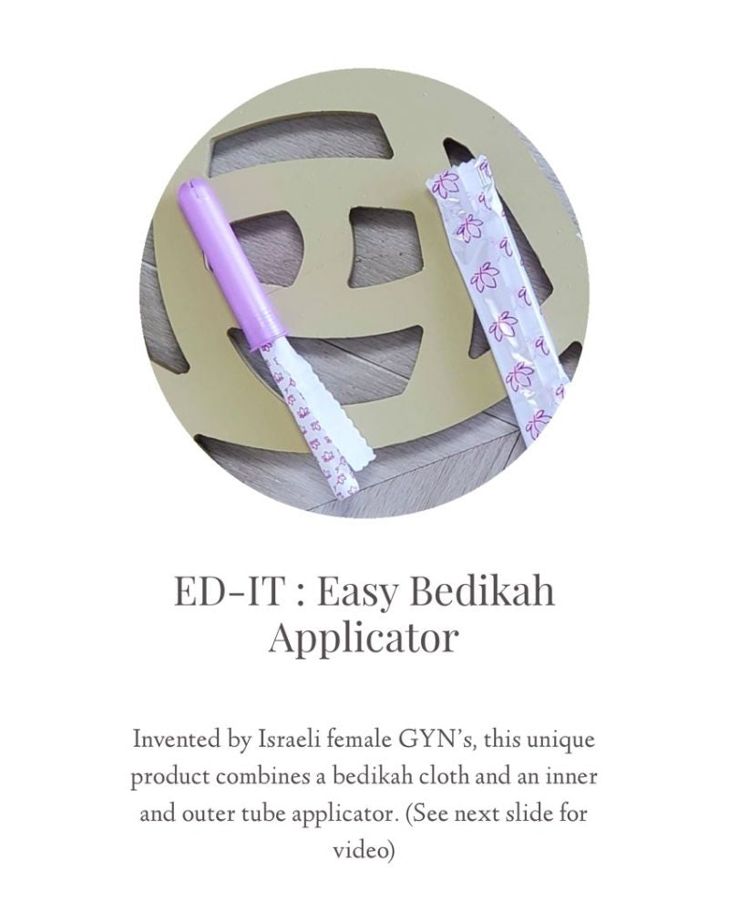 Albaad ED-IT Easy Bedika Applicator 16 Pack