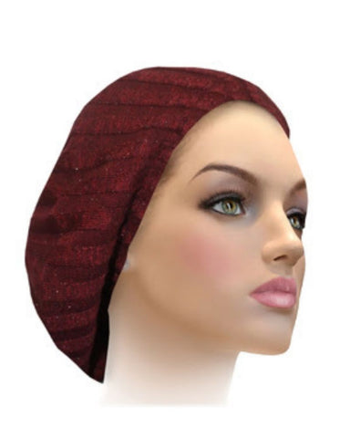 AH-H0002 Burgundy Raised Ribbed Knit Chenille