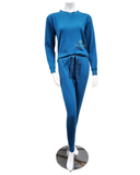 Q81173 Blaire Seaport Fleece Lined Modal Pajamas Set
