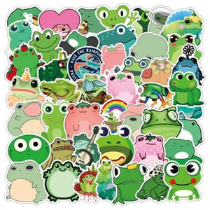 READY TO SHIP  * Frogs Waterproof Vinyl Matte Stickers