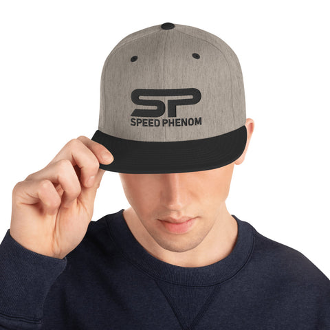 SPEED PHENOM SNAPBACK HAT- Black Insignia - Phenom Autos, Hat, Phenom Autos