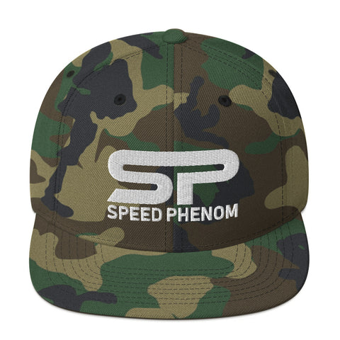 SPEED PHENOM SNAPBACK HAT- White Insignia - Phenom Autos, Hat, Phenom Autos