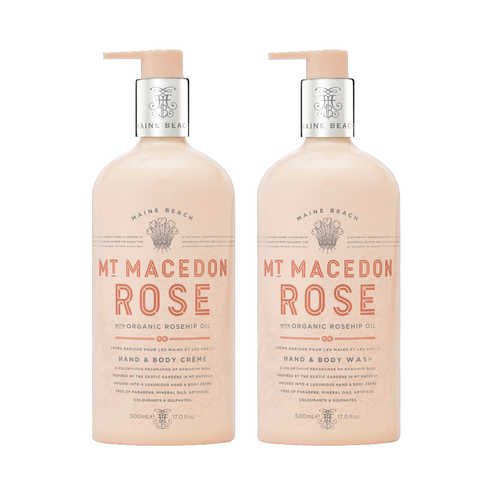 Mt Macedon Rose Hand & Body 500ml Bundle