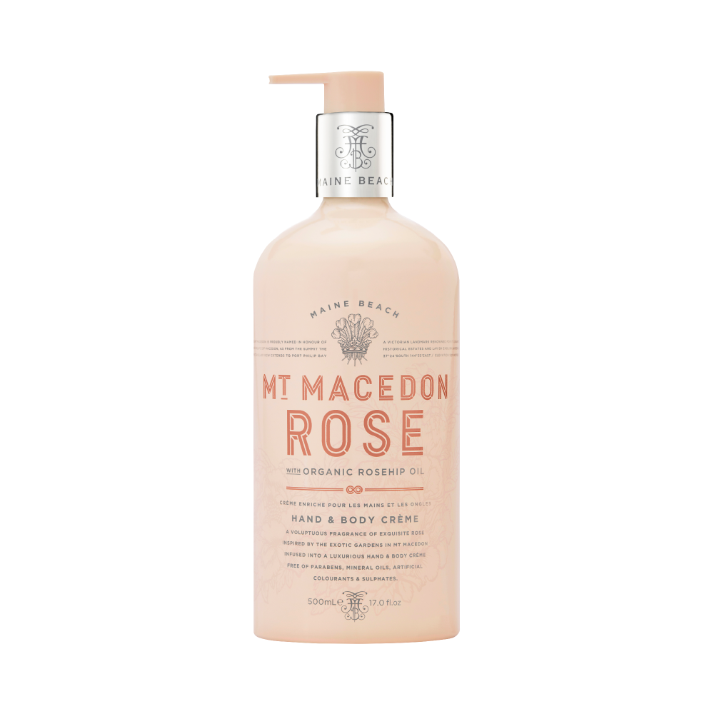 Mt Macedon Rose Hand & Body Creme 500ml