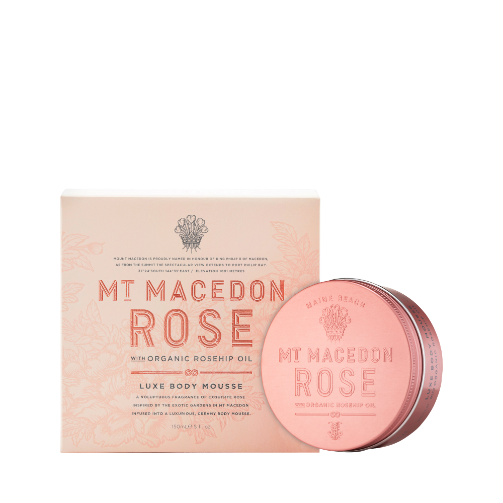 Mt Macedon Rose Luxe Body Mousse 150ml
