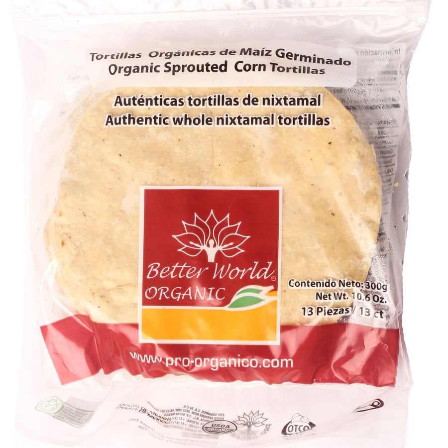 Tortillas Orgánicas de Maíz Germinado Better World