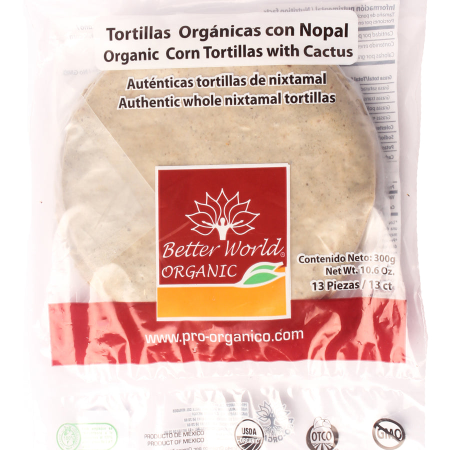 Tortillas Orgánicas de Nopal Better World
