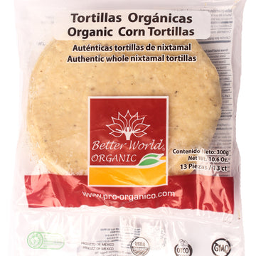 Tortillas Orgánicas de Maíz Blanco Better World