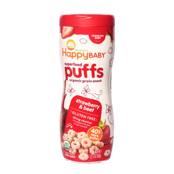 Happy Baby Superfood Puffs Strawberry y Beet