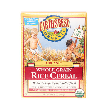 Earth's Best Orgánic Whole Grain Rice Cereal
