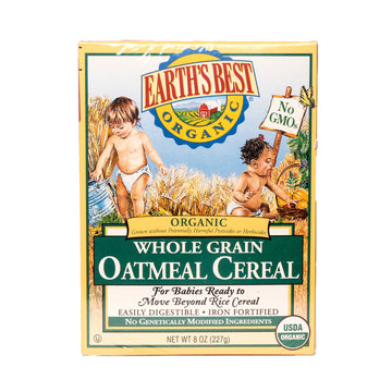 Earth's Best Orgánic Whole Grain Oatmeal Cereal