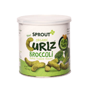 Sprout Organic Curlz Broccoli Baked Toddler Snacks