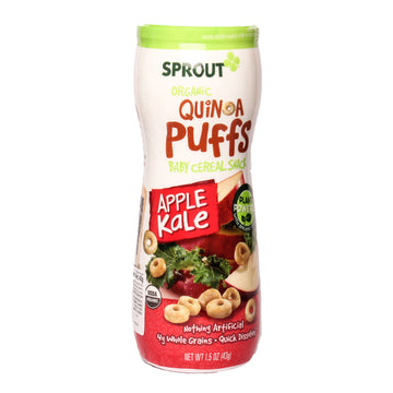 Sprout Orgánic Quinoa Puffs Baby Cereal Snack