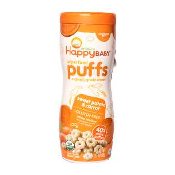Happy Baby Superfood Puffs Sweet Potato y Carrot