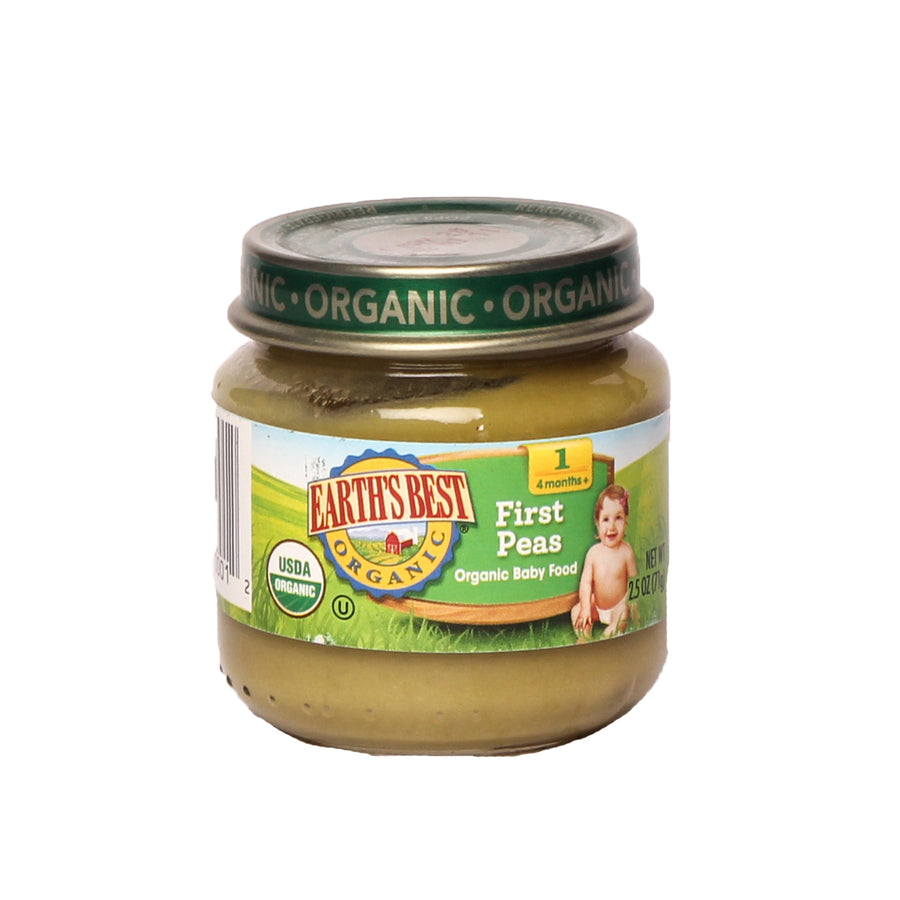 Earth's Best Organic Baby Food 1 First Peas