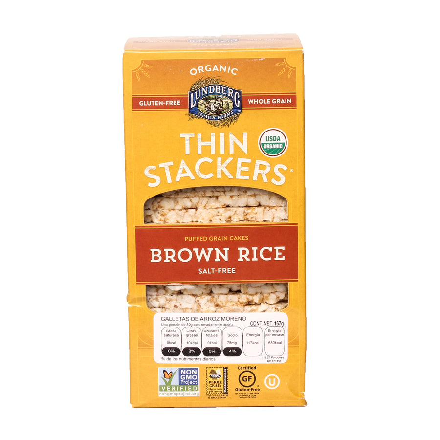 Lundberg Thin Stackers Brown Rice Salt-Free