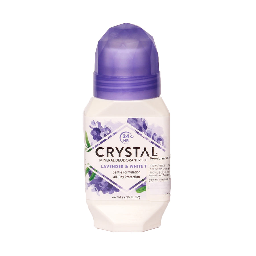 Crystal Mineral Deodorant Roll-on Lavander & White Tea