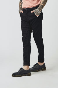 KIOKO SKINNY CHINO - ONYX BLACK - SOLD OUT
