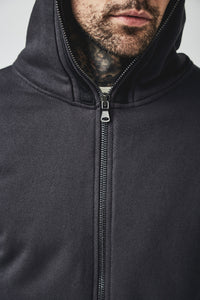 MANSI DISTRESSED HOODIE - OLDEN BLACK