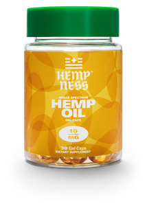 HEMPNESS CBD WELLNESS PRODUCTS BROAD SPECTRUM HEMP OIL GEL CAPS