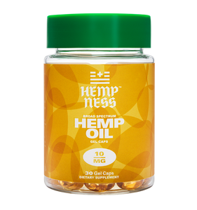 HEMPNESS CBD WELLNESS PRODUCTS BROAD SPECTRUM HEMP OIL GEL CAP 10MG