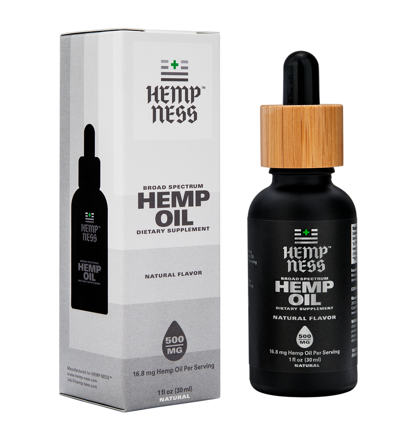HEMPNESS CBD WELLNESS PRODUCTS BROAD SPECTRUM HEMP OIL NATURAL