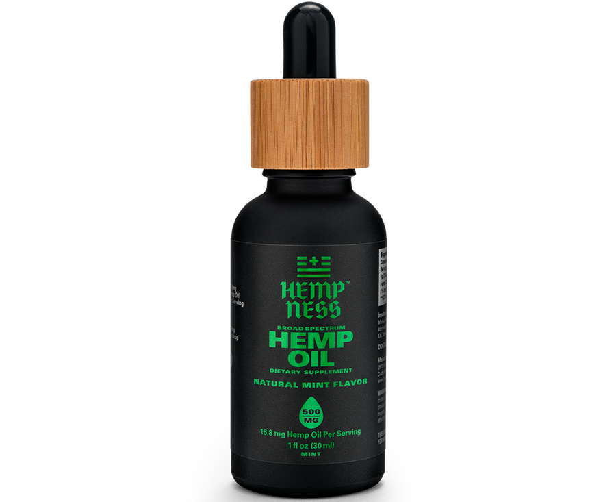 HEMPNESS CBD WELLNESS PRODUCTS BROAD SPECTRUM HEMP OIL mint
