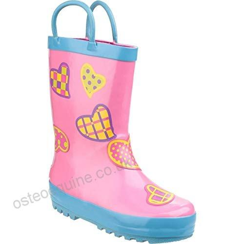 Cotswold Puddle Boot Waterproof Wellington Boots Kids - Hearts  UK 22 - 75% OFF