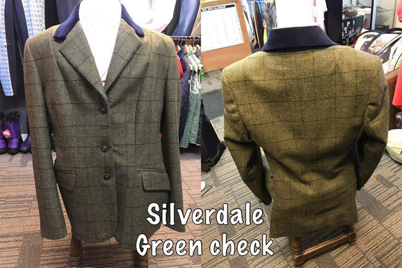Caldene Silverdale Tweed Jacket - Green Check - Childs
