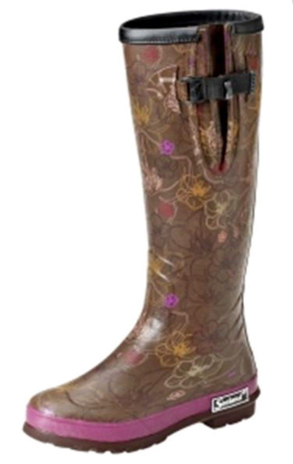 Seeland Pemberley Wellington Boots - Dark Purple Flora - UK 3 - 75% OFF