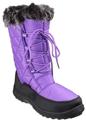Cotswold Gale Womens Fleece Lined Warm Snow Ankle Boots - 75% OFF