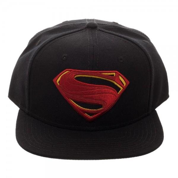 Superman Icon Embroidered Snapback Cap