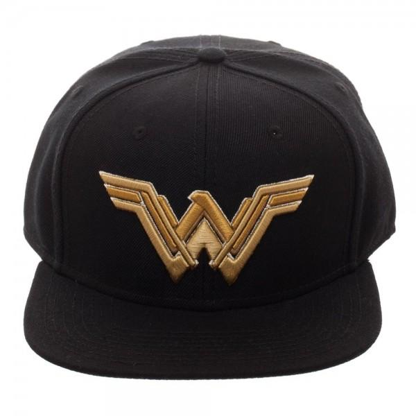 Wonder Woman Icon Embroidered Snapback Cap